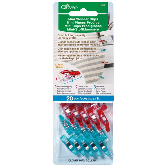 CLOVER 3188 - Mini Wonder Clips - 20 pcs