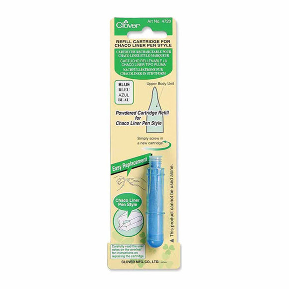 CLOVER 4720 - Pen Style Chaco Liner Refill - Blue