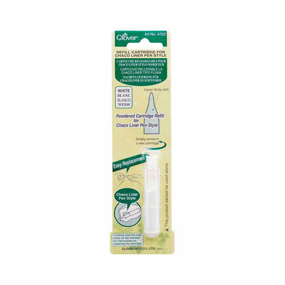CLOVER 4722 - Pen Style Chaco Liner Refill - White