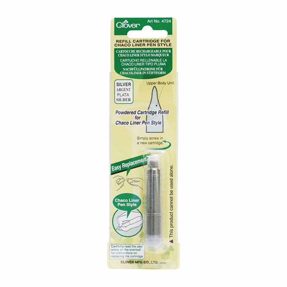 CLOVER 4724 - Pen Style Chaco Liner Refill - Silver