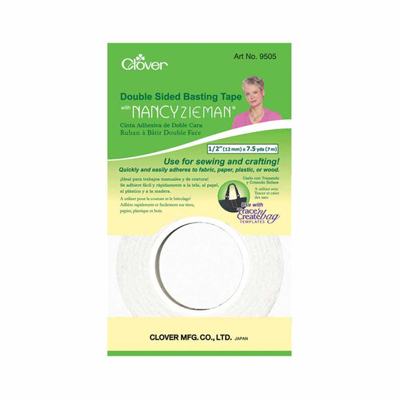 CLOVER 9505 - Dbl Sided Basting Tape - 12mm x 7m (1⁄2″ x 71⁄2yd)