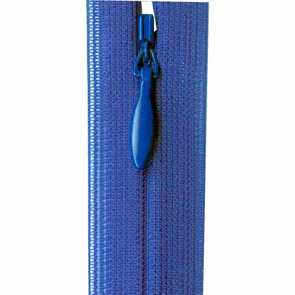 Invisible Closed End Zipper 23cm (9″) - Royal Blue