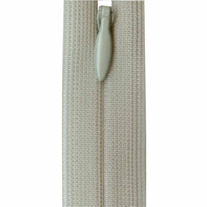 Invisible Closed End Zipper 23cm (9″) - Light Grey