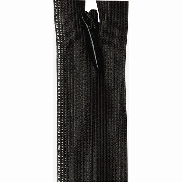 Invisible Closed End Zipper 23cm (9″) - Black