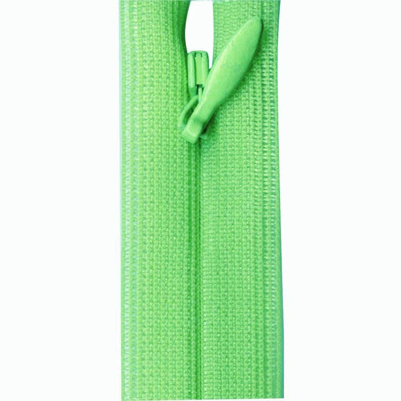 Invisible Closed End Zipper 23cm (9″) - Lime