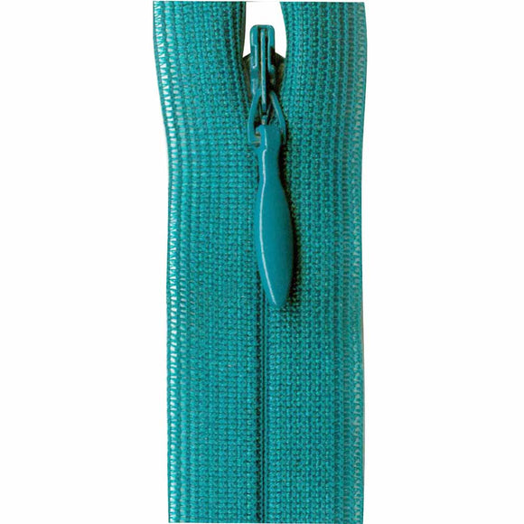 Invisible Closed End Zipper 23cm (9″) - Turquoise