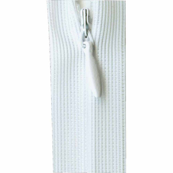 Invisible Closed End Zipper 55cm (22″) - White