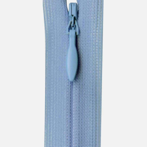 Invisible Closed End Zipper 23cm (9″) - Sky Blue