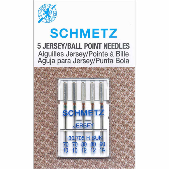SCHMETZ #1727 Jersey / Ball Point Needles Carded - Assorted Size - 5 count