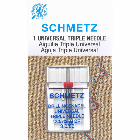 SCHMETZ #1797 Triple Needle Carded - 80/12 - 3.0mm - 1 count