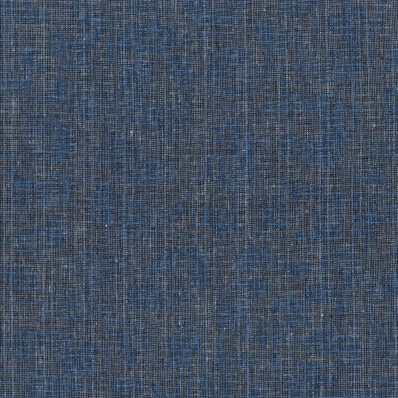 Robert Kaufman Polk - Navy Blue - Printed Linen by Carolyn Friedlander - Abstract Leopard Print - 1/2 Yard