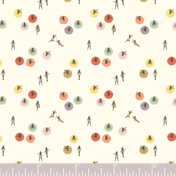 Birch Fabrics Organic Cotton Poplin - Pirouette Dots - 1/2 Yard