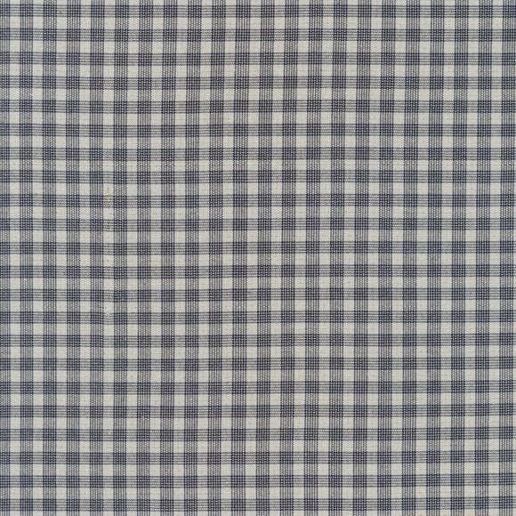 Robert Kaufman - Shimmer On - Metallic Yarn Dyed Plaid - Charcoal Grey - 1/2 Yard