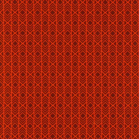 Robert Kaufman Adventure Quilting Cotton in Flame - 1/2 Yard