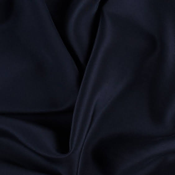 Dark Navy Silk Crepe De Chine 16 Momme - 16mm CDC - 1/2 yard