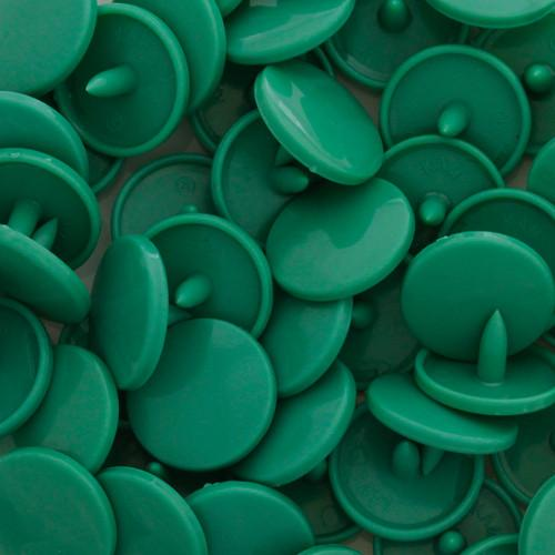KamSnaps Plastic Snaps Size 20 - B29 Jade Green - Glossy - Package of 20 Sets