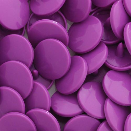 KamSnaps Plastic Snaps Size 20 - B41 Violet - Glossy - Package of 20 Sets
