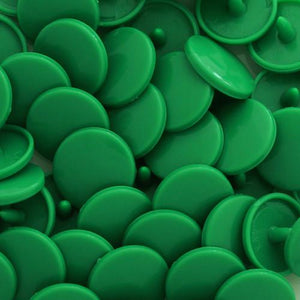 KamSnaps Plastic Snaps Size 20 - B51 Kelly Green - Glossy - Package of 20 Sets