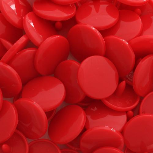 KamSnaps Plastic Snaps Size 20 - B54 Crimson - Glossy - Package of 20 Sets