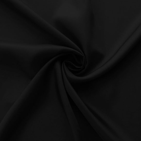 Black Bemberg Lining Cupro Rayon Fabric - by the 1/2 Yard