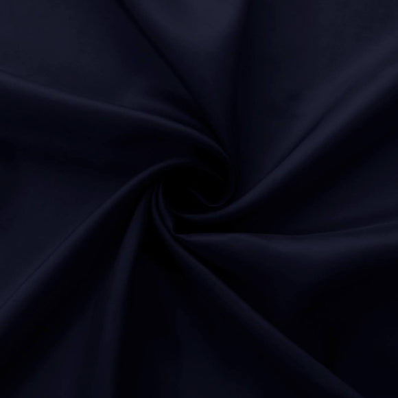 Navy  Bemberg Lining Cupro Rayon Fabric - by the 1/2 Yard