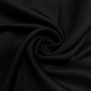 James Thompson Westminster Twill Cotton Fabric - Black - 1/2 Yard