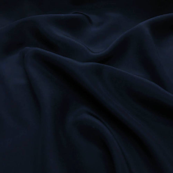 Sandwashed  Silk Charmeuse Dark Navy 19 Momme - Crepe Back Silk Satin 19mm - Extra Wide 54
