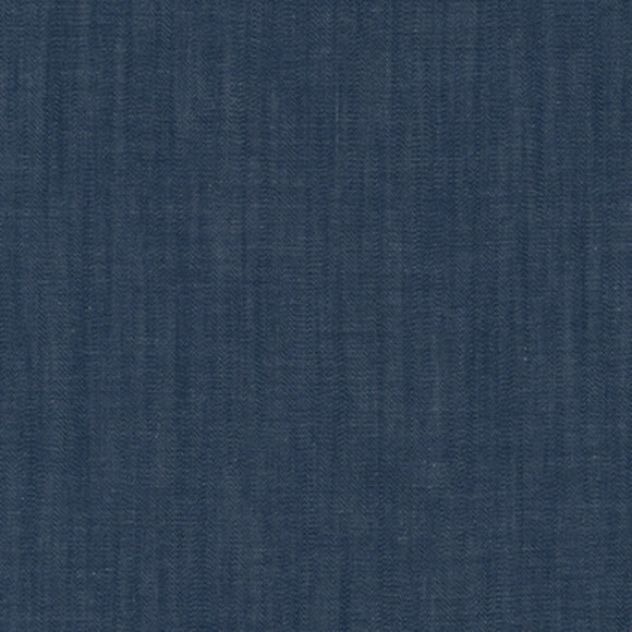 Robert Kaufman House of Denim - Chambray Union Fabric - Indigo - 1/2 Yard