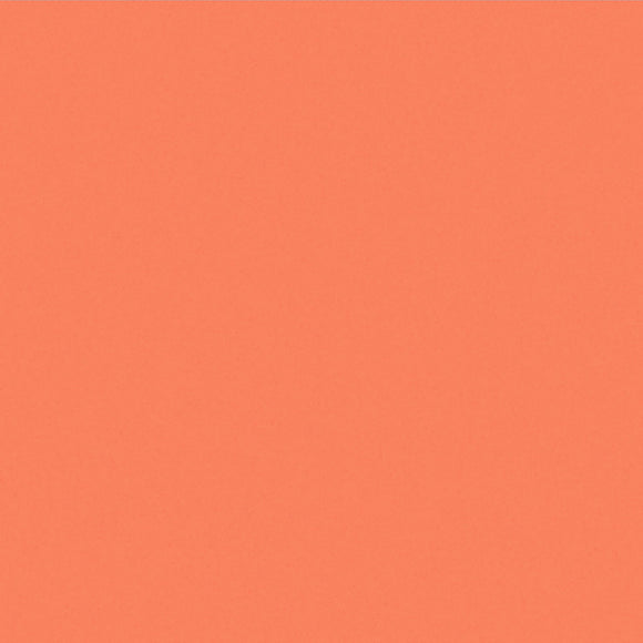 Clothworks American Made Brand Cotton Fabric - Light Orange - 1/2 Yard