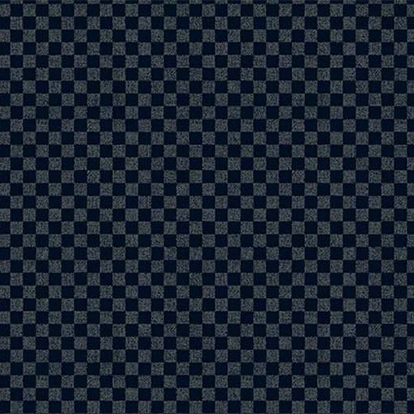 Cosmo Japan - Indigo Sheeting - checkerboard - Cotton Fabric - Navy Blue - 1/2 Yard