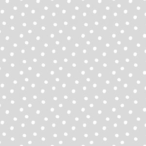 Tiny Tots Organic Cotton Collection by Michael Miller Fabrics - Fog - Dots - 1/2 Yard