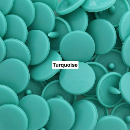 KamSnaps Plastic Snaps Size 20 Turquoise Glossy D311 Package of 20 Sets