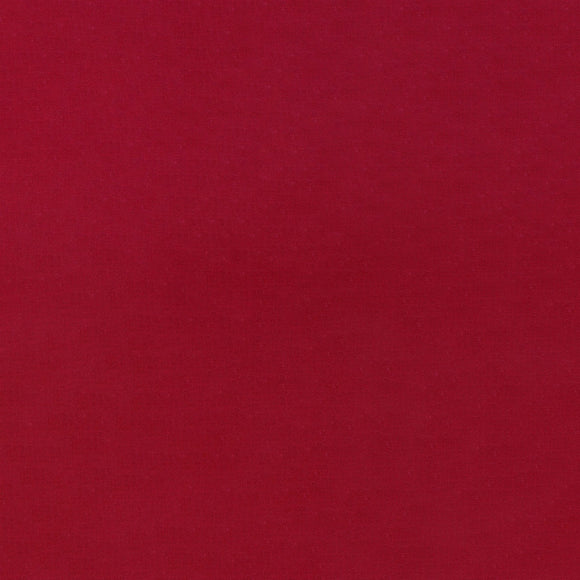Elite - Silky Cotton Solids Japanese Quilting Fabric - Deep Red - 1/2 Yard