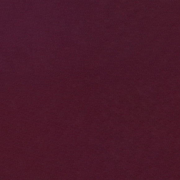 Elite - Silky Cotton Solids Japanese Quilting Fabric - Wine - 1/2 Yard