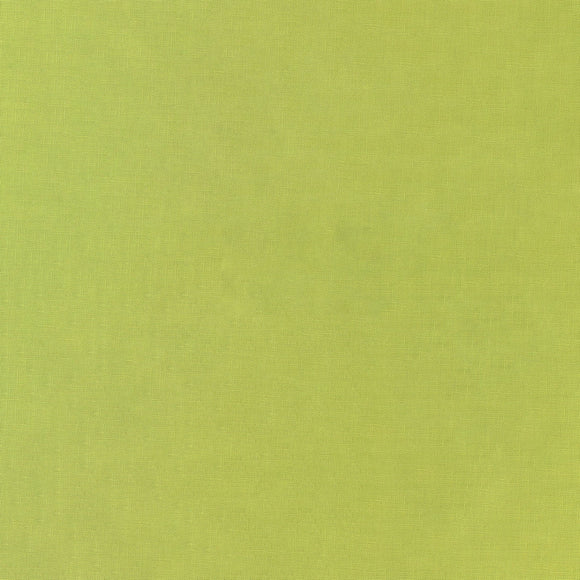 Elite - Silky Cotton Solids Japanese Quilting Fabric - Wasabi Green - 1/2 Yard