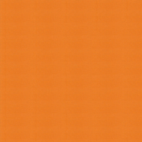Elite - Silky Cotton Solids Japanese Quilting Fabric - Mandarin - 1/2 Yard