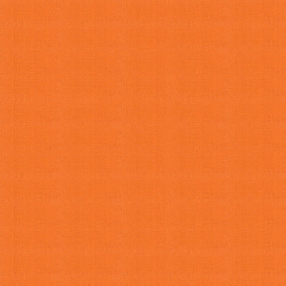 Elite - Silky Cotton Solids Japanese Quilting Fabric - Orange - 1/2 Yard