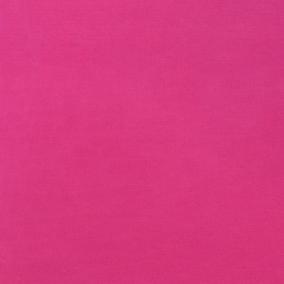 Elite - Silky Cotton Solids Japanese Quilting Fabric - Fuchsia Pink - 1/2 Yard