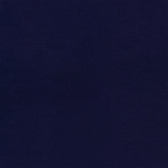Elite - Silky Cotton Solids Japanese Quilting Fabric - Indigo - 1/2 Yard