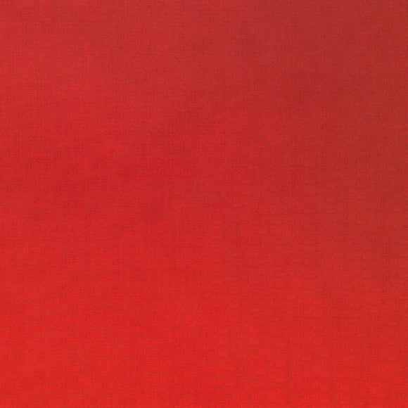 Elite - Silky Cotton Solids Japanese Quilting Fabric - Fire Red - 1/2 Yard