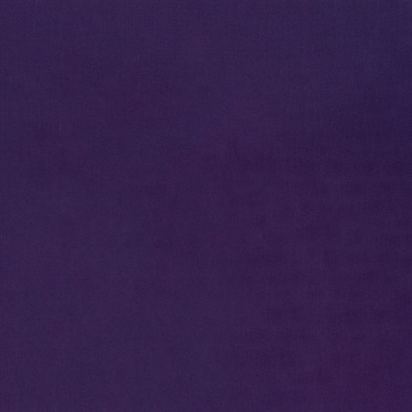 Elite - Silky Cotton Solids Japanese Quilting Fabric - Royal Purple - 1/2 Yard