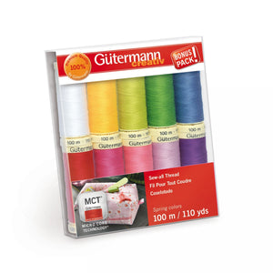 Gütermann MCT Sew-All Thread 100m Set - Spring - 10 Spools