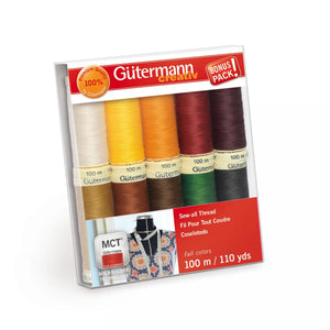Gütermann MCT Sew-All Thread 100m Set - Fall - 10 Spools