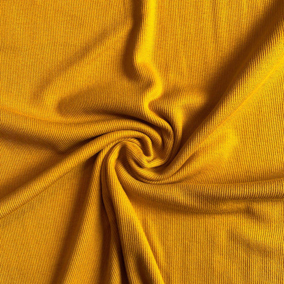 Bamboo Cotton Rib 2x2 Dark Mustard - 1/2 Yard
