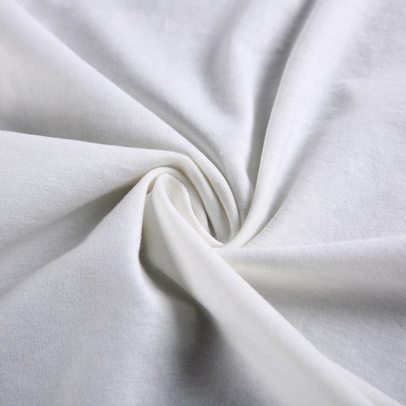 Organic Cotton Spandex Jersey Knit - White - 1/2 Yard