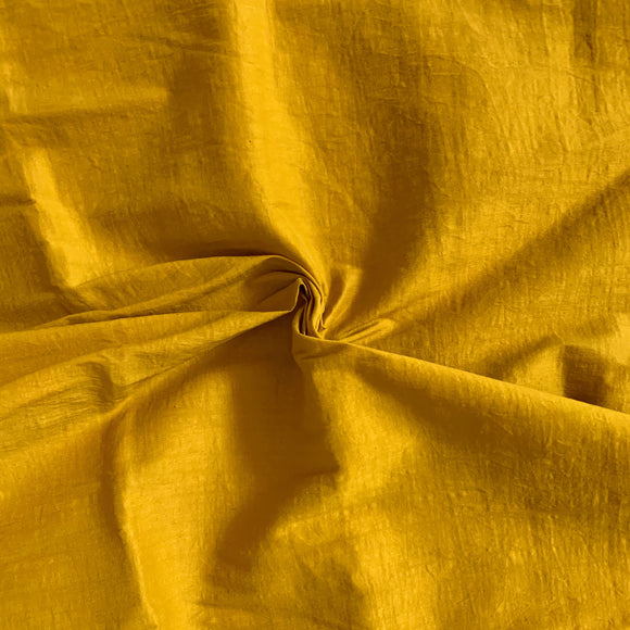 Mustard / Gold Stretch Cotton Poplin - 1/2 yard