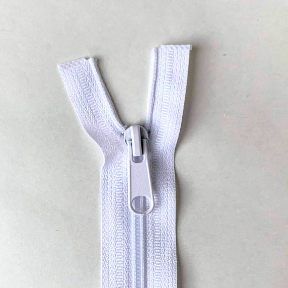 Two Way Separating Zipper - Medium Weight Nylon Coil 66cm (26″) - White