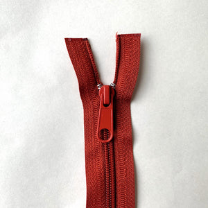 Two Way Separating Zipper - Medium Weight Nylon Coil 66cm (26″) - Rust