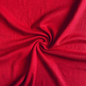 Bamboo Cotton Rib 2x2 Hot Chili - 1/2 Yard