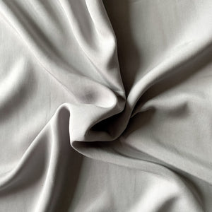 TENCEL™ Lyocell Twill - Grey Flint - 1/2 Yard